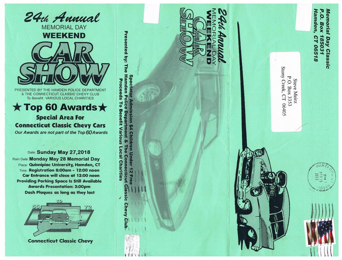 SAAC - Calendar of Selected Upcoming Shoreline-Area Antique Auto Events